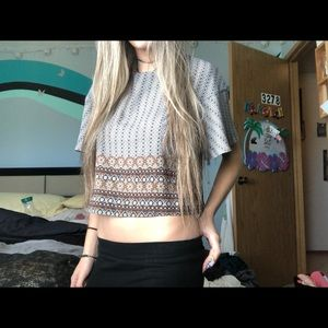 Patterned Crop Top (XS)